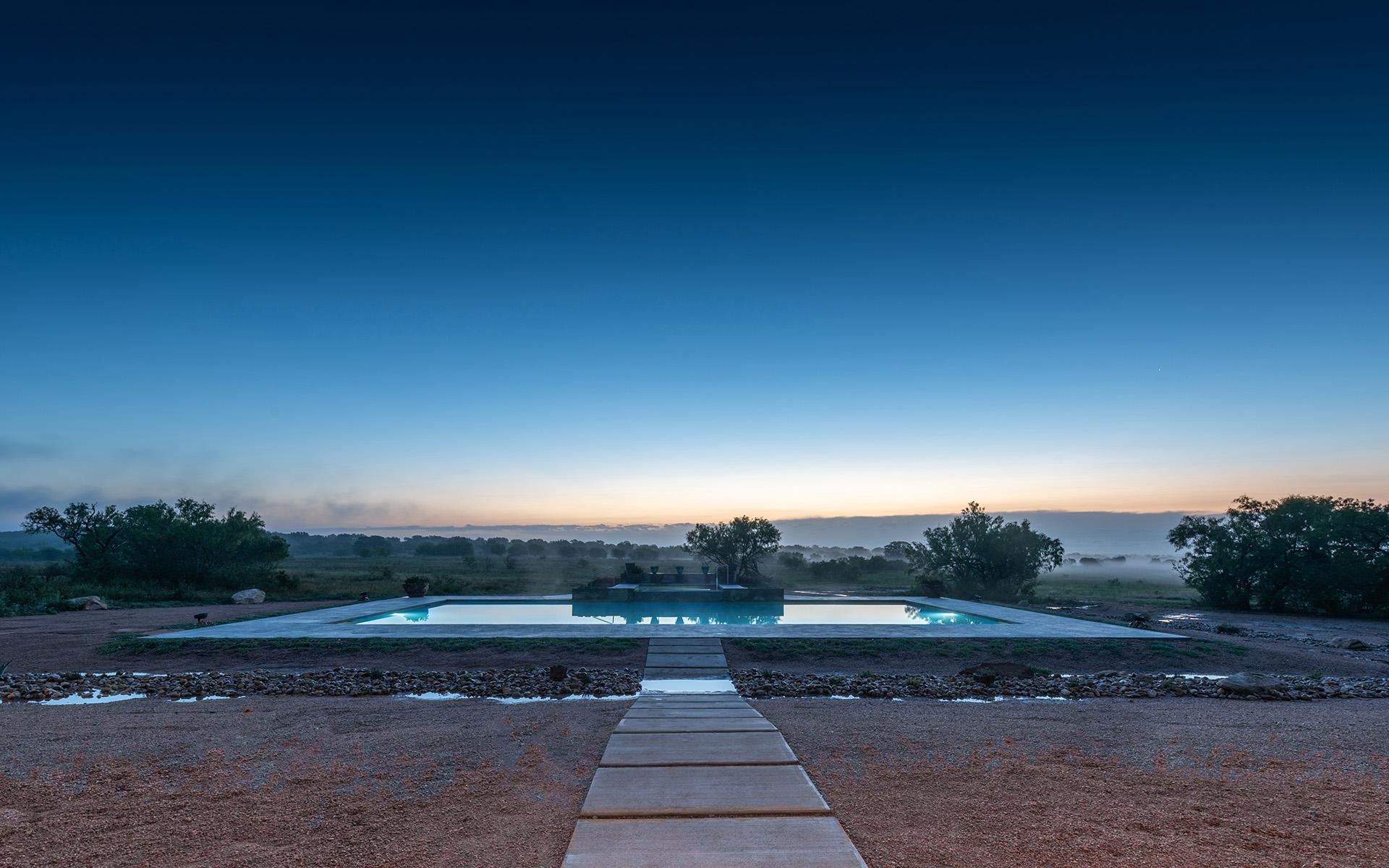 Hacienda Pool at Dawn