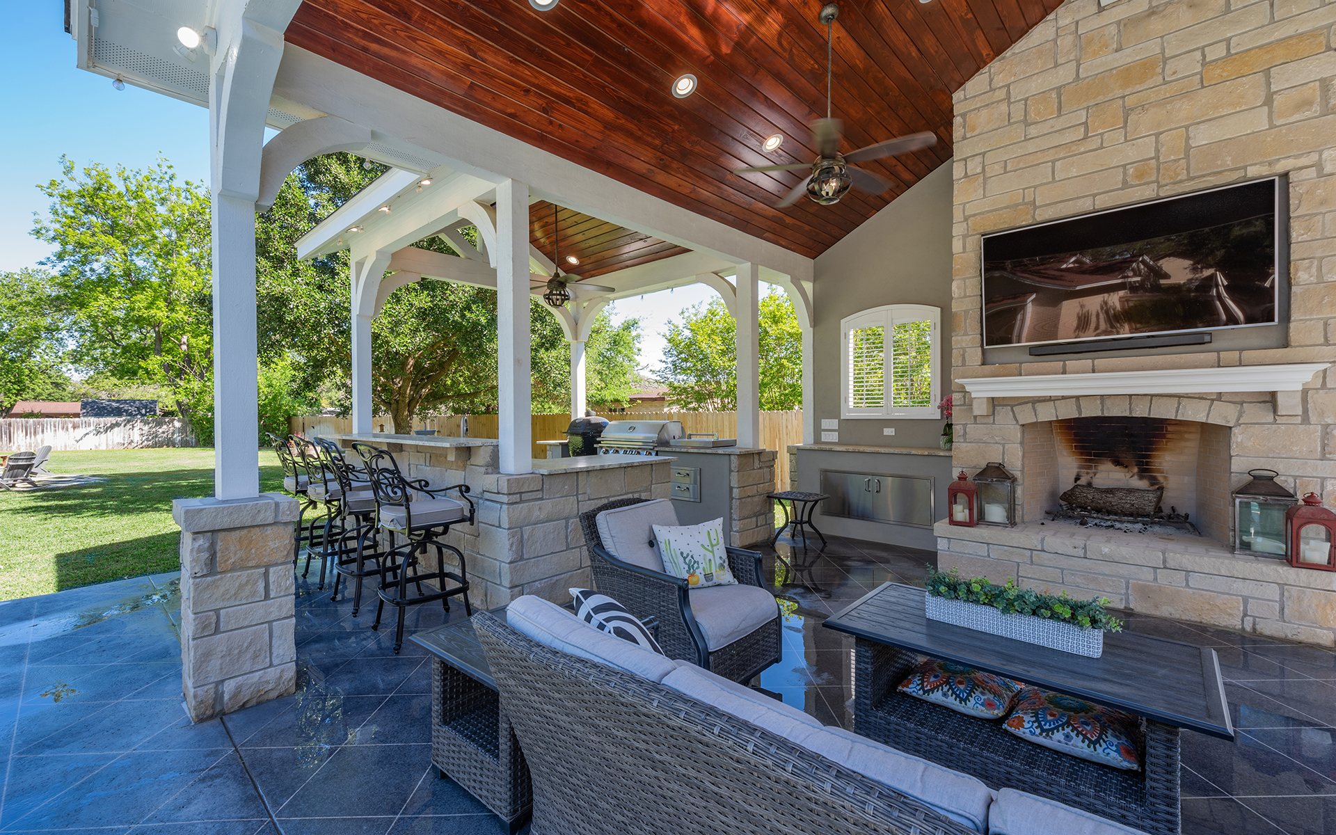 Pool House - Covered Area