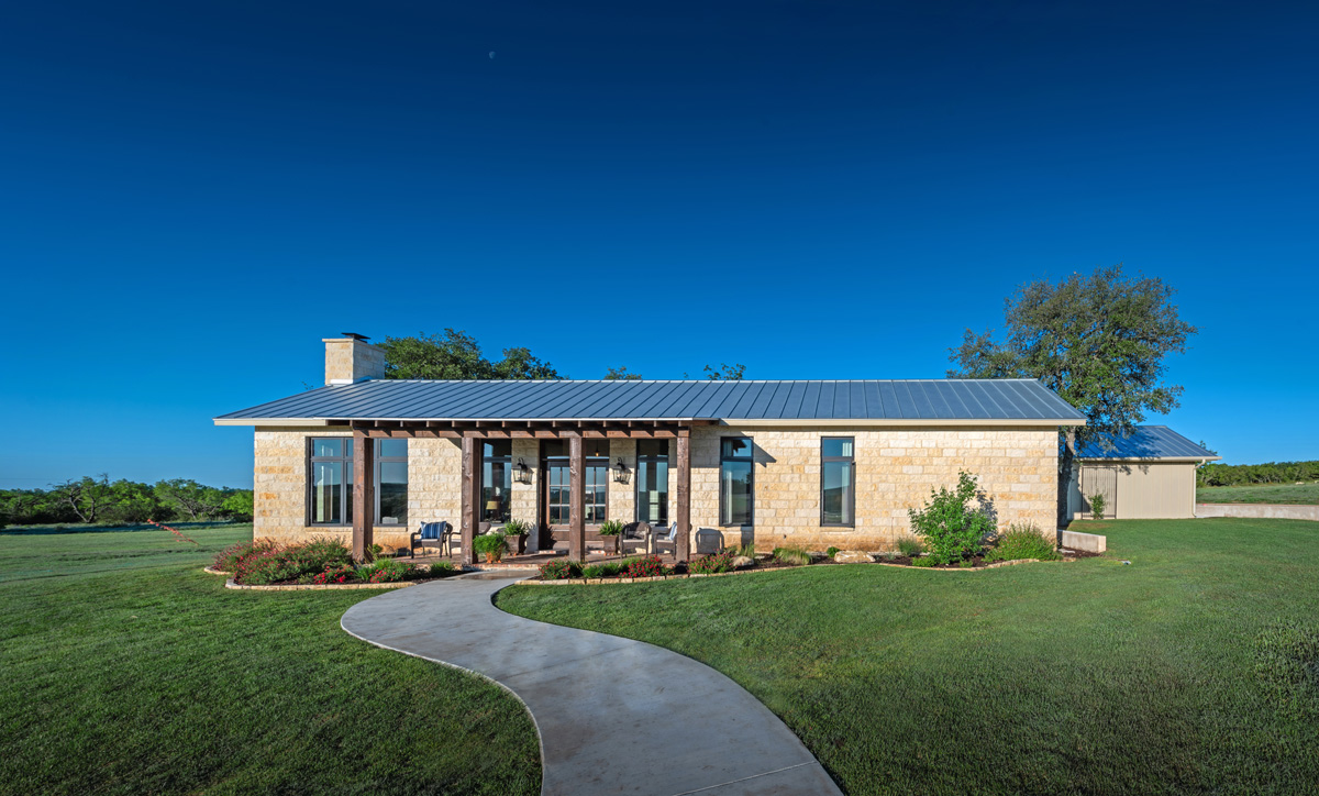 Ranch House - Front Elevation